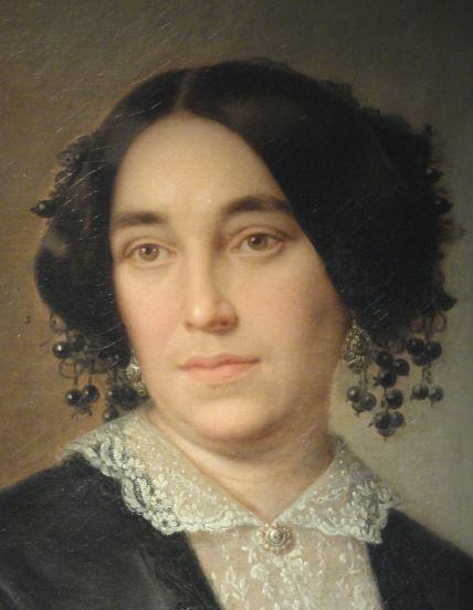 Retrato de dama. José María Romero. 1853. Detalle. Museo  Romántico.  Madrid.  Foto R.Puig