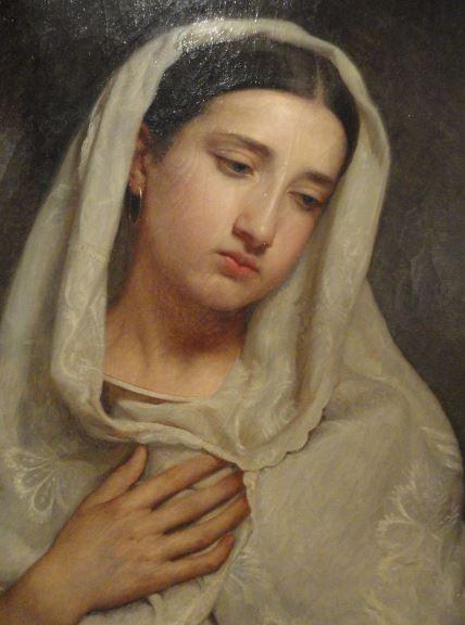 Retrato de dama. Victor Manzano y  Mejorada. 1859. Museo Romántico.  Madrid.  Foto R.Puig