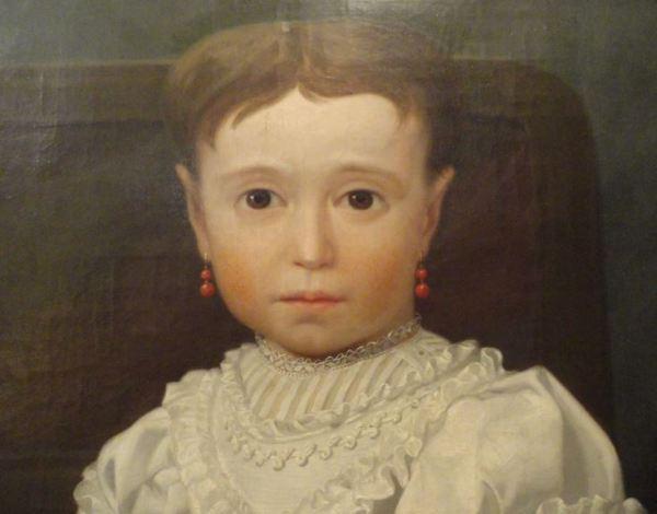 Retrato de la niña Dolores Chávarri y Romero. Ángel Mª Cortellini. 1866. Museo Romántico. Madrid. Foto R.Puig