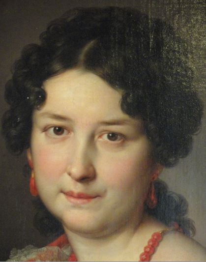 Señora de Vargas Machuca. Vicente López. 1840. Detalle. Museo Romántico.  Madrid.  Foto R.Puig