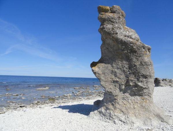 Costa de los raukar de Fårö.   Foto R.Puig