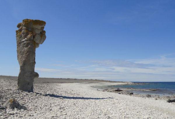 Costa de los raukar en Fårö. Foto R.Puig