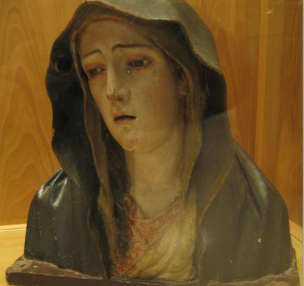 Dolorosa de Pedro de Mena. Catedral de Alcalá de Henares. Wikipedia.