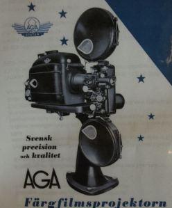 El mítico proyector AGA de los años Bergman. Centro Bergman en Gotland.