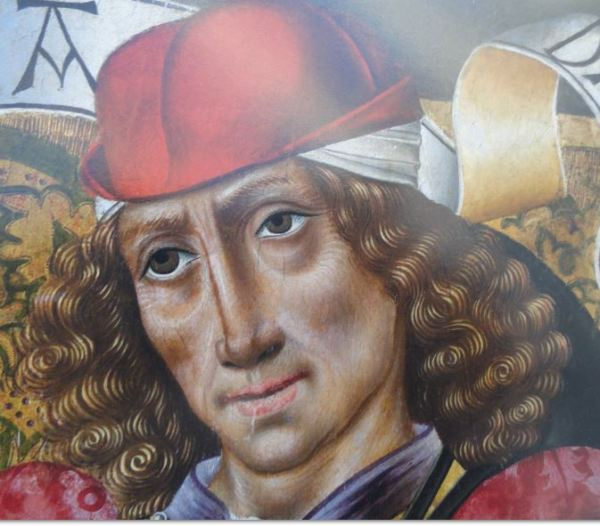 El profeta Daniel. Maestro de San Nicolás. s.XV. Detalle. Coleccion Masaveu