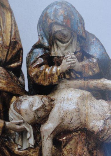 La Lamentación. Escuela de Bramante. s. XV. Detalle.Coleccion Masaveu. Foto R.Pui