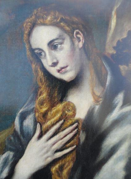 María Magdalena. El Greco. Detalle.Coleccion Masaveu