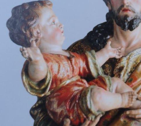 San José y el niño. Círculo de Salcillo. Detalle. Coleccion Masaveu