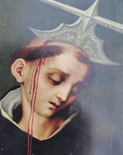 San Pedro de Verona. Luis de Morales. Detalle. Coleccion Masaveu
