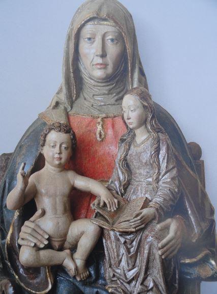 Santa Ana con la Virgen y el Niño. Murillo. Círculo del maestro de Covarrubias. s.XVI. Coleccion Masaveu