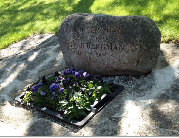 Sepultura de Ingmar Bergman y su mujer Ingrid. Foto R.Puig