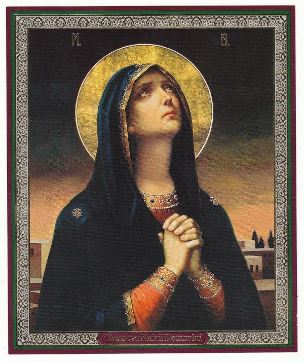 Tanguerea Maicii Domnului. Icono de Ireneo Protchenco.