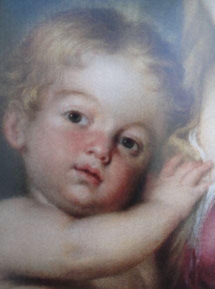 Virgen con el Niño. Murillo. Detalle. Coleccion Masaveu