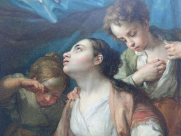 Virgen de los desamparados. Vicente López. Detalle. Coleccion Masaveu