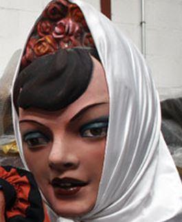 Gigante cabezuda. Feria de San Isidro de Madrid