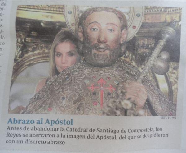 La reina tras el apóstol. ABC Reuters. 26 julio 2014