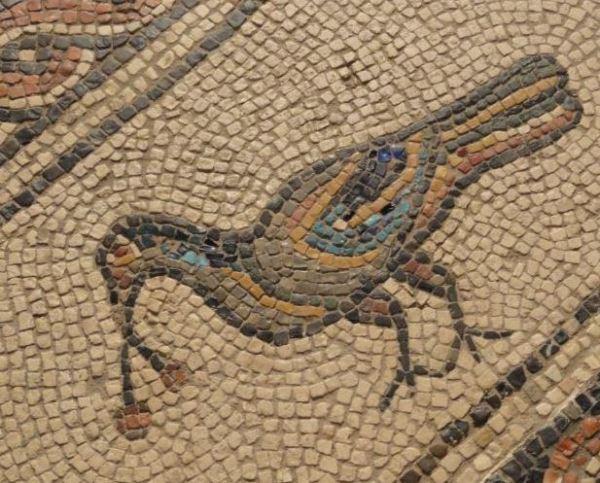 Mosaico de Medusa y las estaciones. IV. Detalle. Museo Arqueológico Nacional. Madrid. Época hispanoromana. Foto R.Puig