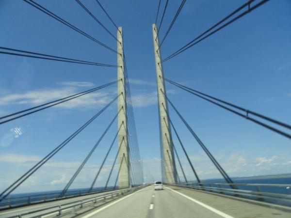 Pasando de Suecia a Dinamarca. Foto R.Puig