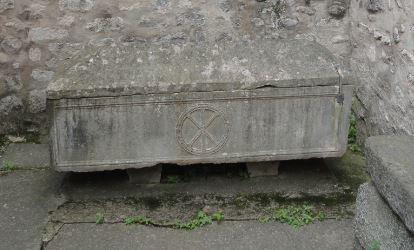 Sarcófago del siglo V en la abadía de Santa María en Arles sur Tech. Foto R.Puig