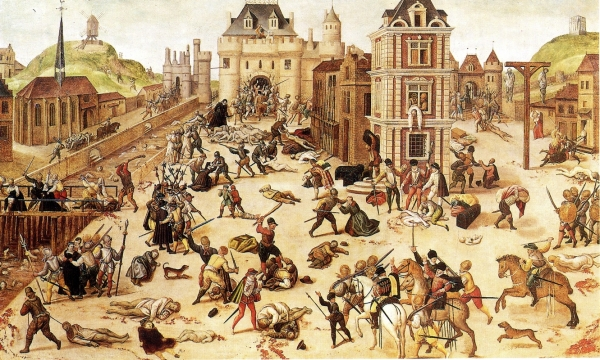 François Dubois. La matanza de día de San Bartolomé. s. XVI. Museo Cantonal de Lausanne. Wikipedia