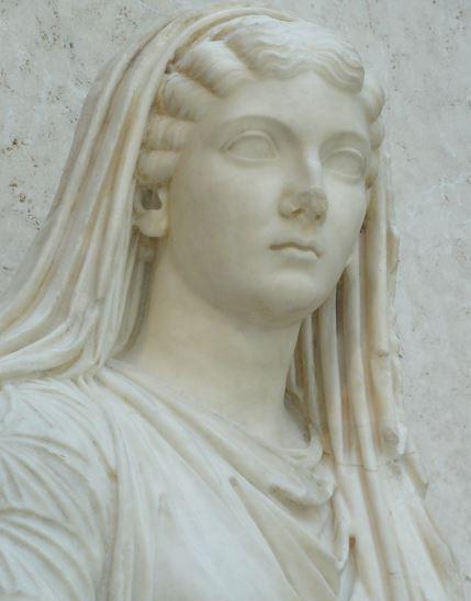 La emperatriz Livia Drusila. Detalle. Museo Arqueológico Nacional. Madrid. Época hispanoromana. Foto R.Puig