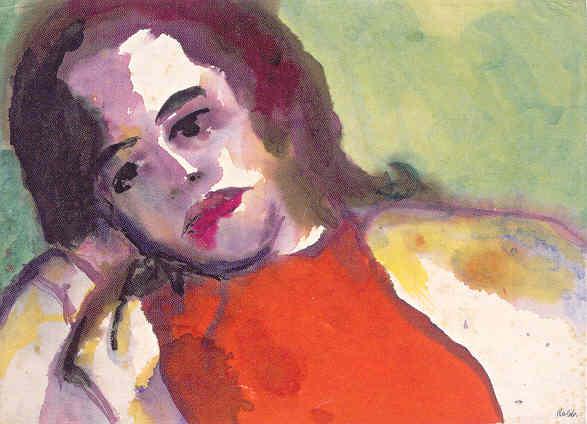 Emil Nolde. Jolanthe Nolde. Acuarela. 1950