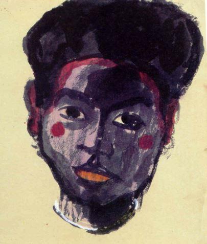 Emil Nolde.Joven Buka.  Acuarela. 1913 1914