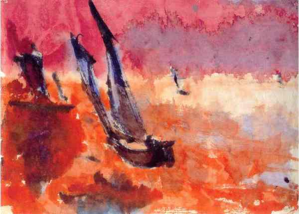 Emil Nolde. Junco. Acuarela. China 1913