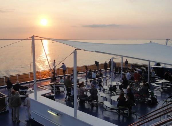 En el ferry.   Foto R.Puig
