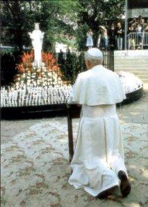 Juan Pablo II en Beauraing. Fuente. Passionistes de Polynesie.