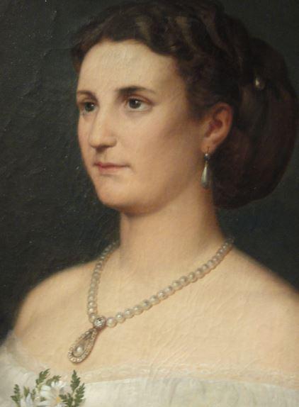 La duquesa de Osuna. María Leonor Salm-Salm. Carlos Luis de Ribera. 1866. Museo Romántico. Madrid. Foto R.Puig