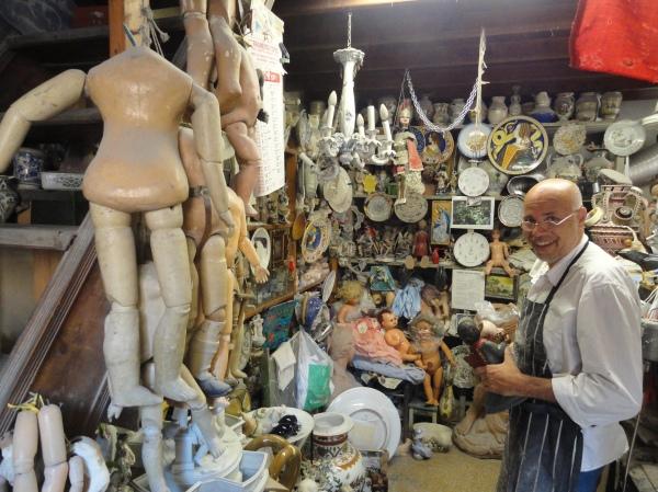 La tienda de Squatriti. Manos a la obra. Roma. Foto R.Puig