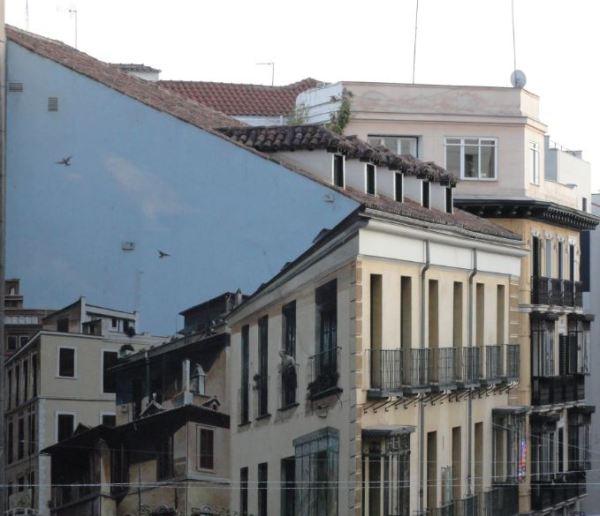 Trampantojos. Calle de la Montera. Madrid.Foto R.Puig