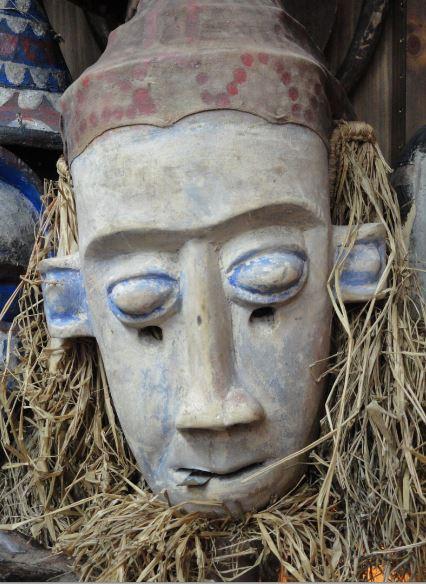 Mascara del pueblo Yaka. Colección Fernando Cardenal. Foto R.Puig