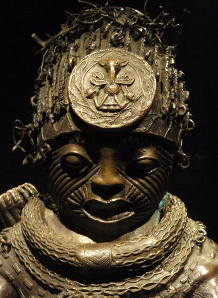 Arquero. Detalle. Aleación de cobre. ss.XV a XVI. NCMM. Lagos. Foto R.Puig