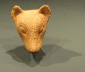 Cabeza de perro. Terracota. ss.XIII a XVI. NCMM. Lagos. Foto R.Puig