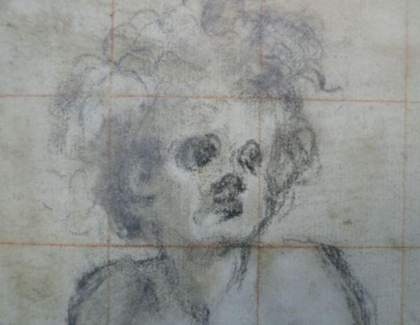 Estudio de muchacho sentado para Poggio a Caiano.Detalle. Jacopo Pontormo. Uffizi.