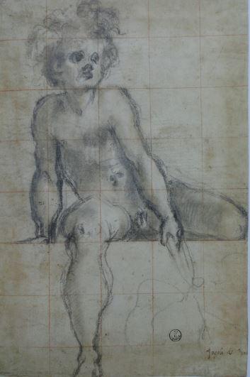 studio de muchacho sentado para La Villa Medicea de Poggio a Caiano. Jacopo Pontormo. Uffizi.