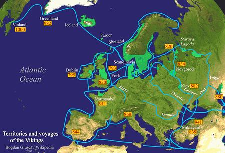 Los periplos de los vikingos