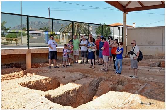 Visita al Alfar romano de la Almadraba. Foto Gonçal Vicens