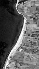 Vista aérea de la playa en 1946. Foto Cuatrovientos