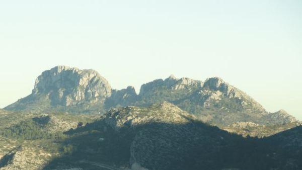 El Segaria desde la carretera de Vall de Ebo a Pego.  Foto M.Puig