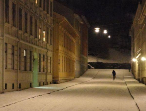 Nieve en el barrio de Haga.  Foto  R.Puig