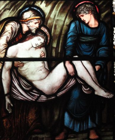 Birmingham. Detalle de la vidriera de Burne Jones y William Morries en la iglesia de Saint Martin. Foto R.Puig