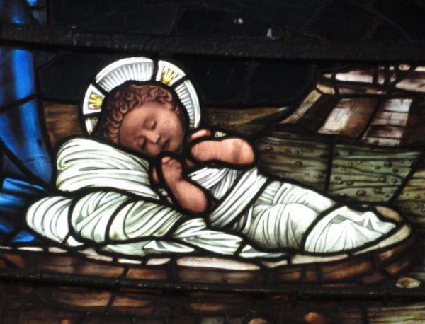 Birmingham. Detalle de una de las vidrieras de Edward Burne Jones en la catedral.  Foto R.Puig