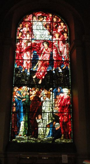 Birmingham. Detalle de vidriera de Edward Burne Jones en la catedral.  Foto R.Puig