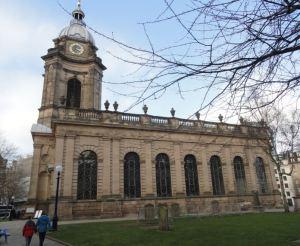 Birmingham. La catedral barroca del siglo XVIII.  Foto R.Puig