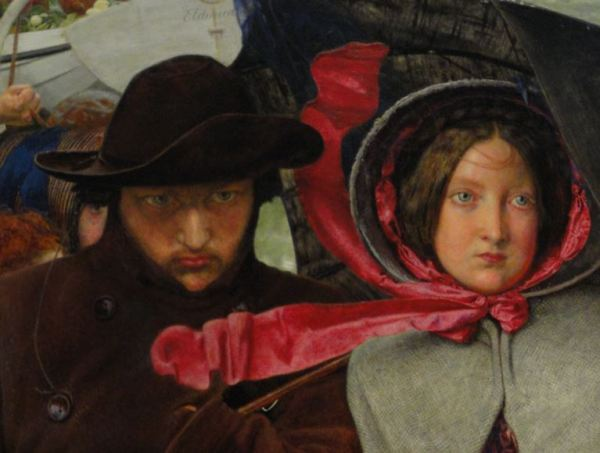 Ford Madox Brown. The last of England. Detalle. Birmingham Museum. Foto R.Puig