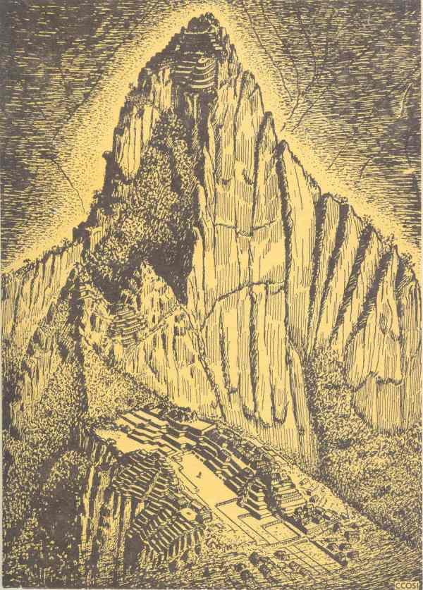 Machu Picchu. Dibujo de  Luis Ccosi Salas