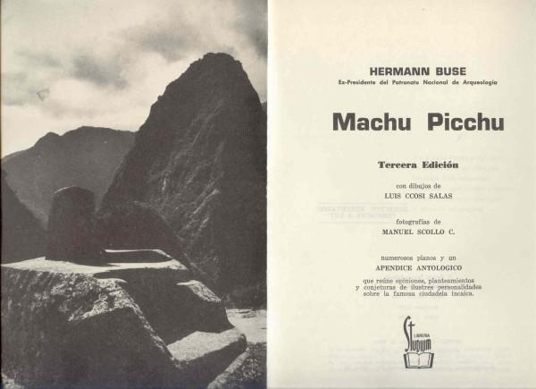 Machu Picchu por H.Buse de la Guerra